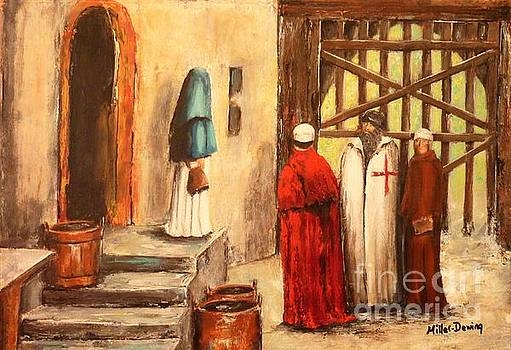 The Courtyard Conversation by Kaye Miller-Dewing