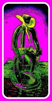 The Crazy Cowboy by Art Speakman