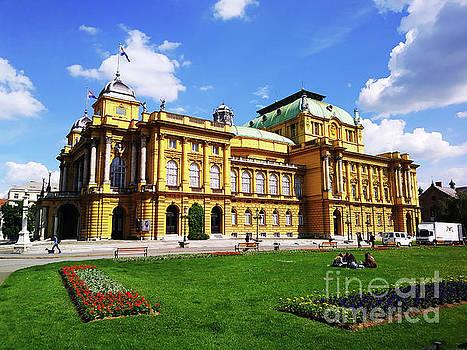 The Croatian National Theater In Zagreb, Croatia by Jasna Dragun
