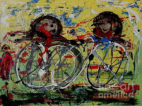 The Cyclists by Rebecca Flores