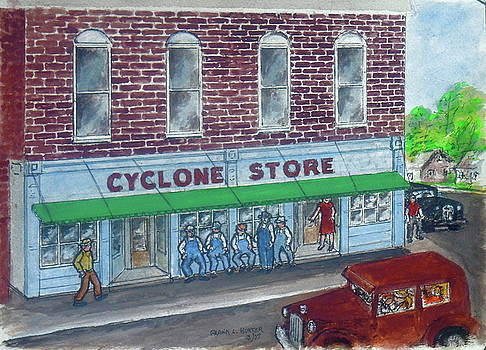 The Cyclone Store 1948 by Frank Hunter