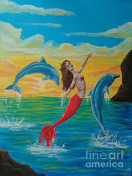 The dance of the dolphins by Heather James