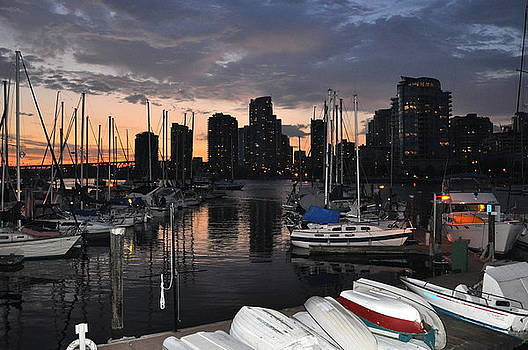 The Day Ends at the Marina by Caroline Reyes-Loughrey