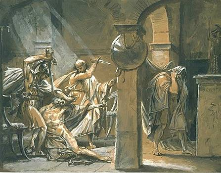 The Death Of Timophanes 1798 by Gros AntoineJean