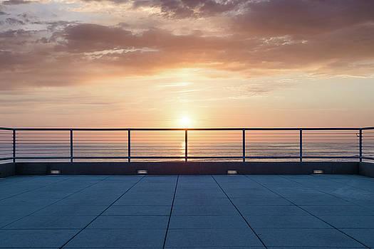 The Deck at Moonlight Beach by Alexander Kunz
