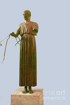 Bob Phillips - The Delphi Charioteer - Blue Background