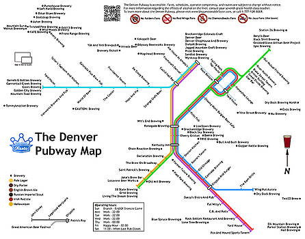 The Denver Pubway Map by Unquestionable Taste
