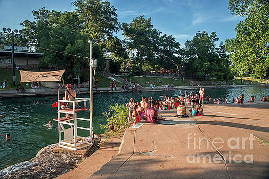 Herronstock Prints - The diving board at Barton Springs Pool is always a popular acti