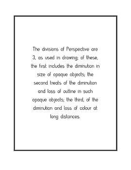 The divisions of Perspective are... by Famous Quotes