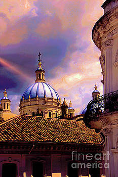 The Domes Of Immaculate Conception, Cuenca, Ecuador by Al Bourassa