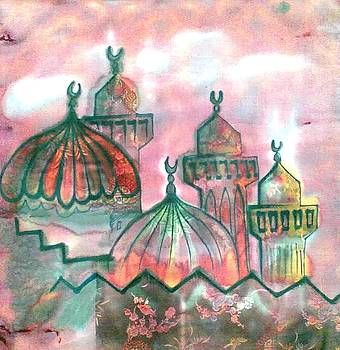 The domes of the mosque by Hassan Ragheb