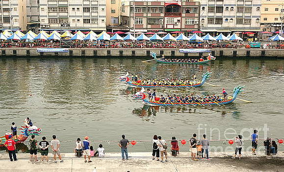 The Dragon Boat Races in Taiwan by Yali Shi