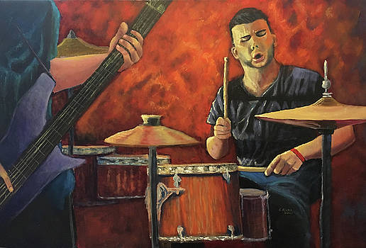 The Drummer by Esther Rivas