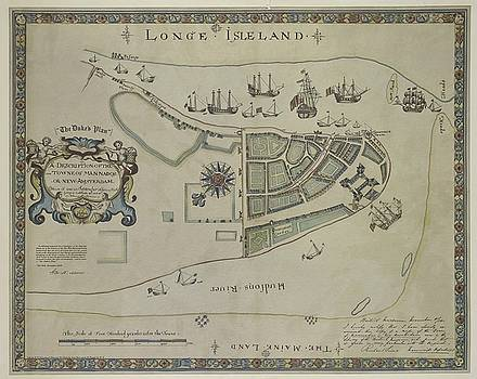 The Dukes Plan a Description of the Town of Mannados or New Amsterdam 1664 by Duncan Pearson