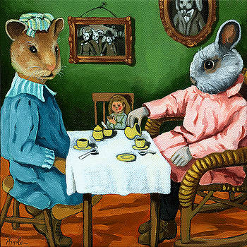 The Easter Tea Party by Linda Apple