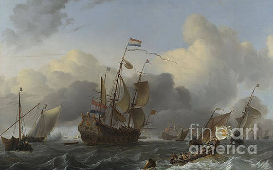The Eendracht and a Fleet of Dutch Men of war by Ludolf Backhuysen