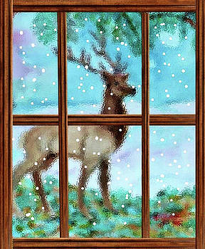 The Elk in Snow by Jeannie Allerton
