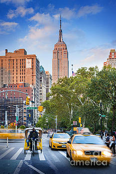 The Empire State Building from Broadway by Justin Foulkes