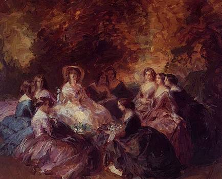 Winterhalter Franz Xaver - The Empress Eugenie Surrounded By Her Ladies In Waiting