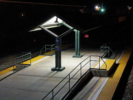 The Empty Train Station by Ron Dubin
