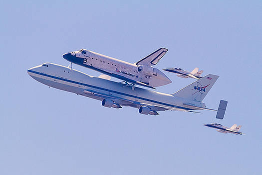 The Endeavour Flyby by Ron Dubin