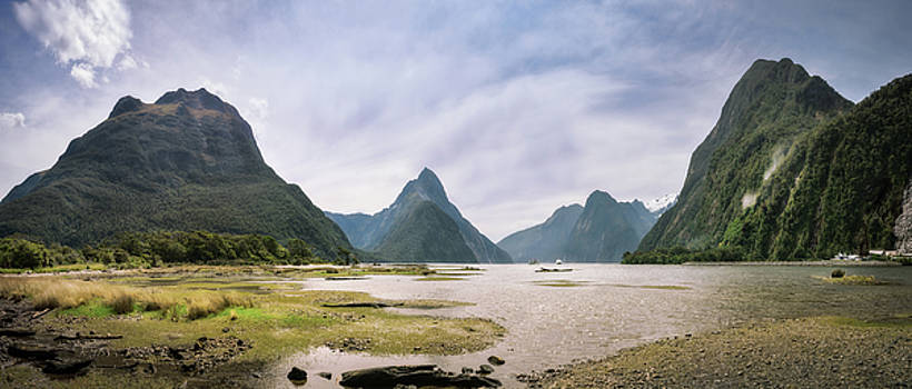 The Entry to the Fiord at Milford Sound by Daniela Constantinescu