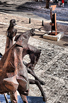 Pedro Cardona Llambias - The essence of an Island - Three horses and a flutist in Menorca