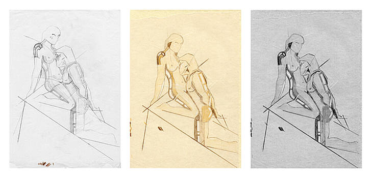 David Hargreaves - The Eternal Idol - Triptych - Homage Rodin