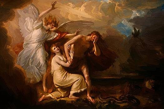 West Benjamin - The Expulsion Of Adam And Eve From Paradise 1791