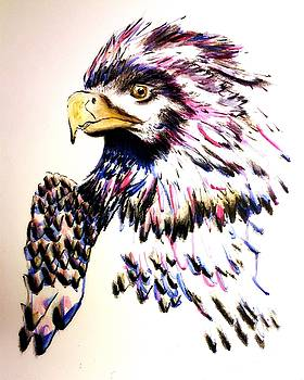 Watercolor Painting of The Eye of Freedom by Ayasha Loya by Ayasha Loya