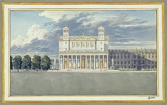 Karl Friedrich Schinkel - The Facade and Suroundings of a Cathedral for Berlin