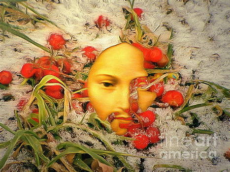 The Face In The Roses by Yury Bashkin