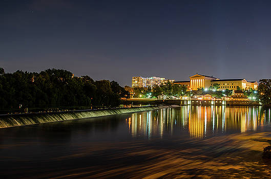 The Fairmount Dam and Art Museum - Philadelphia at Night by Bill Cannon