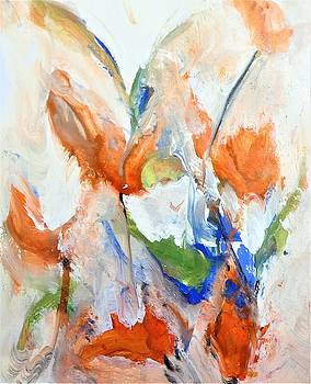 The Fairy Abstract Floral Painting  by Lisa Kaiser