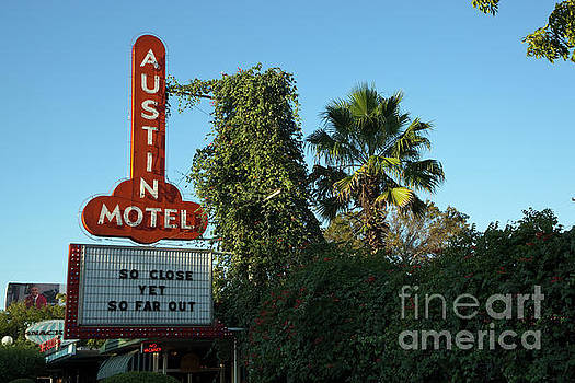 Herronstock Prints - The famed Austin Motel, decorated in retro chic is located on South Congress Avenue in Austin, Texas