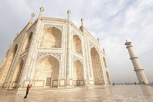 The famous Taj Mahal India by Michalakis Ppalis