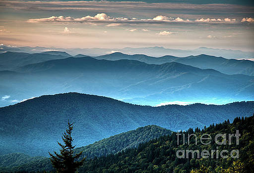 The Far Blue Smoky Mtns. by Douglas Stucky