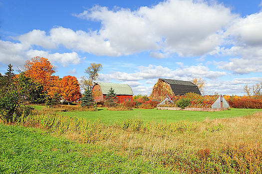 The Farm In The Fall by Newman Artography