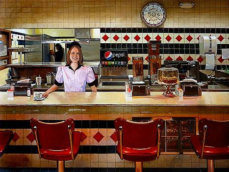 The Fifties Diner by Doug Strickland