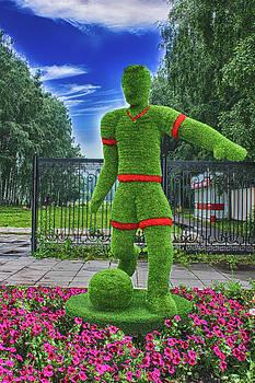 The Figure Of The Football Player Grass by Tatiana Tyumeneva