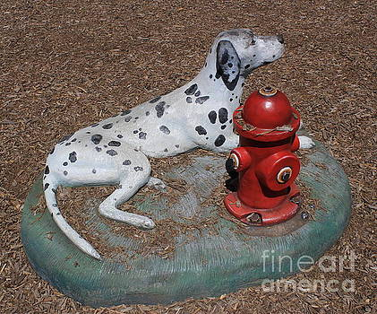 The Fireman's Dog - Public Art Sculpture by Dora Sofia Caputo Photographic Art and Design