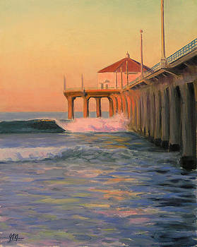 The First Light On The Pier by Joe Mancuso