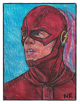 The Flash As Portrayed By Actor Grant Gustin by Neil Feigeles