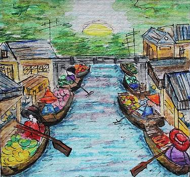 The Floating Market by Art By Naturallic