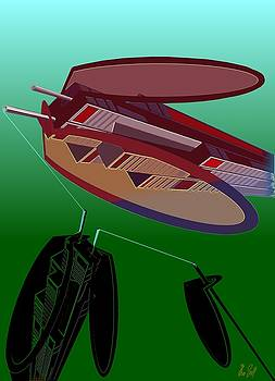 The Flying Skyscraper by Helmut Rottler