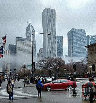 The Fog Lifts on Michigan Avenue by Kathie Chicoine