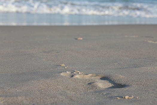The footprint of invisible Man the sand and the sea by Yoel Koskas