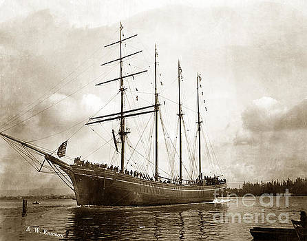 California Views Mr Pat Hathaway Archives - The four-masted barkentine  Jane Stanford built by Hans Bendixse 1892