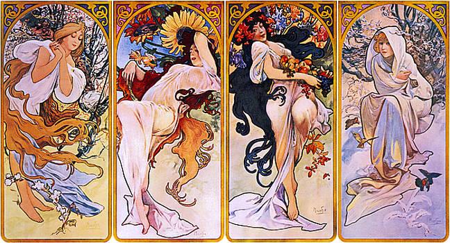 Alphonse Mucha - The Four Seasons