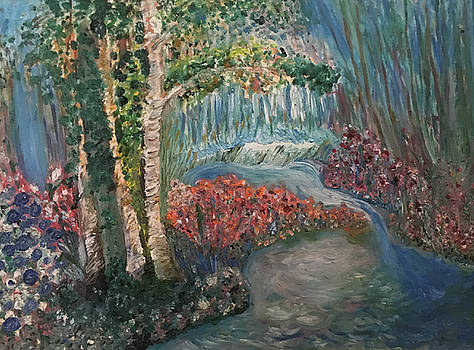 The Four Seasons of the 3 Birch Trees - Summer by Susan Grunin